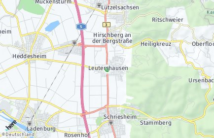 Stadtplan Hirschberg an der Bergstraße