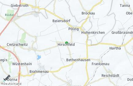 Stadtplan Hirschfeld (Thüringen)