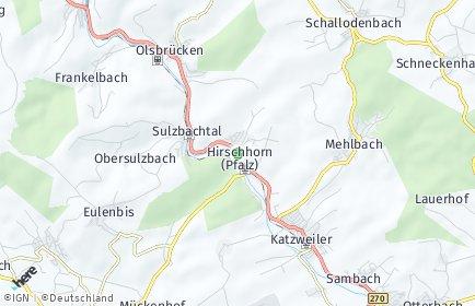 Stadtplan Hirschhorn (Pfalz)