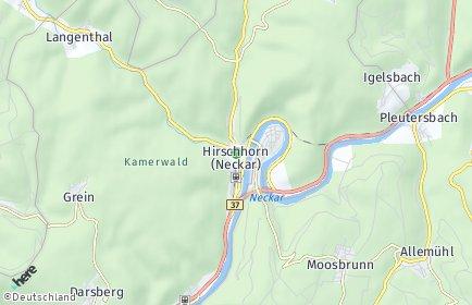 Stadtplan Hirschhorn (Neckar)