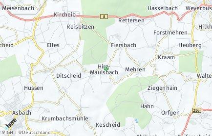 Stadtplan Hirz-Maulsbach
