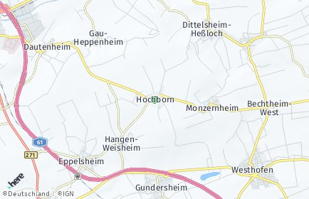 Stadtplan Hochborn