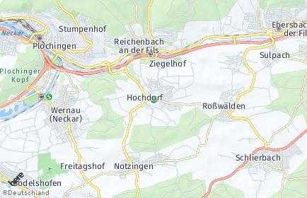 Stadtplan Hochdorf bei Plochingen