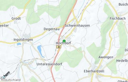 Stadtplan Hochdorf (Riß)