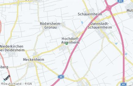 Stadtplan Hochdorf-Assenheim