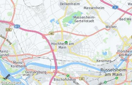 Stadtplan Hochheim am Main