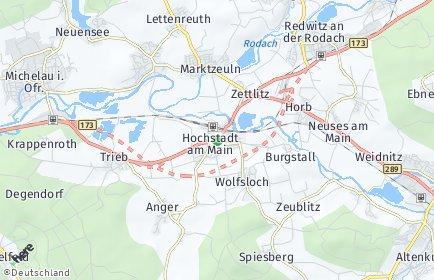 Stadtplan Hochstadt am Main