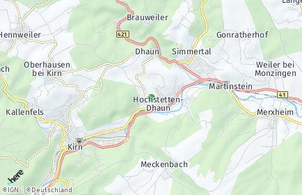 Stadtplan Hochstetten-Dhaun