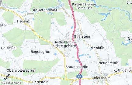 Stadtplan Höchstädt im Fichtelgebirge