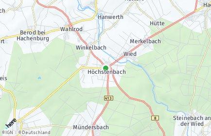 Stadtplan Höchstenbach