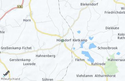 Stadtplan Högsdorf