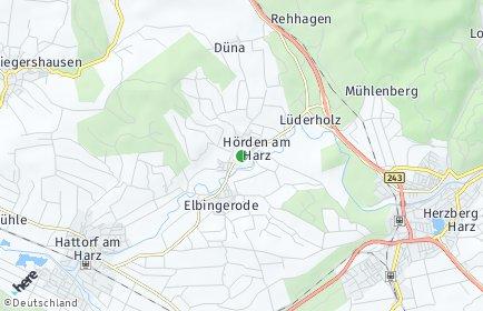 Stadtplan Hörden am Harz