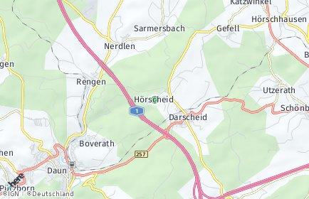 Stadtplan Hörscheid