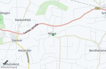 Stadtplan Hörup