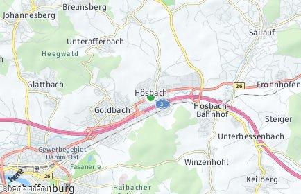 Stadtplan Hösbach
