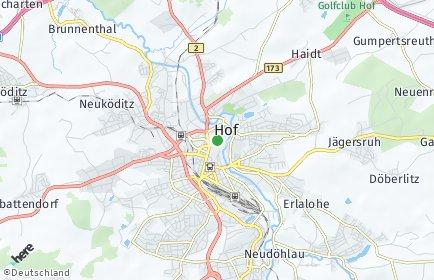 Stadtplan Hof