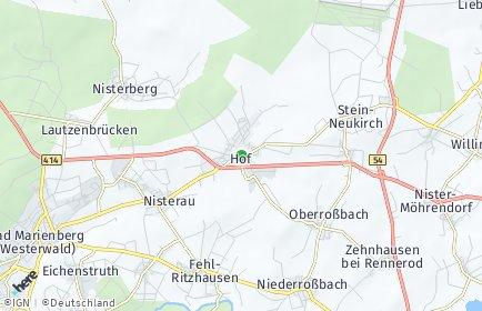 Stadtplan Hof (Westerwald)