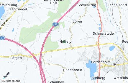 Stadtplan Hoffeld (Holstein)