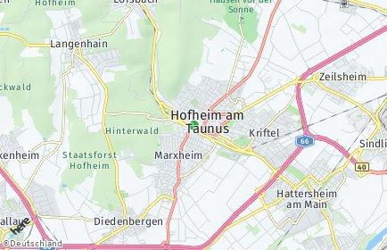 Stadtplan Hofheim am Taunus