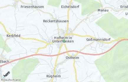 Stadtplan Hofheim in Unterfranken