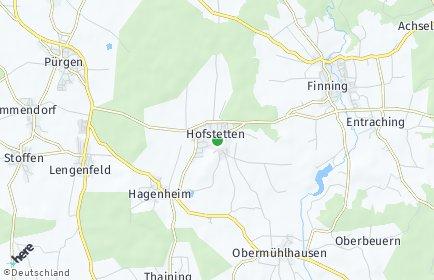 Stadtplan Hofstetten (Oberbayern)