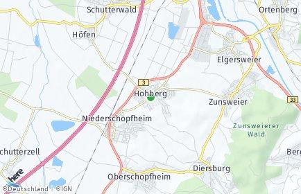 Stadtplan Hohberg