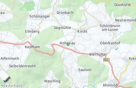 Stadtplan Hohenau