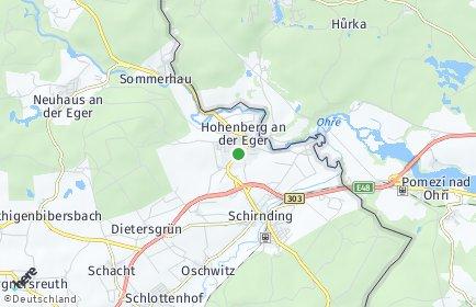 Stadtplan Hohenberg an der Eger