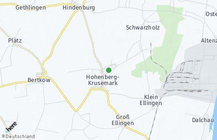 Stadtplan Hohenberg-Krusemark