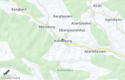Stadtplan Hohenburg