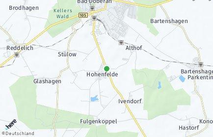 Stadtplan Hohenfelde (Mecklenburg)