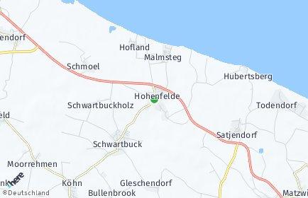 Stadtplan Hohenfelde (Kreis Plön)