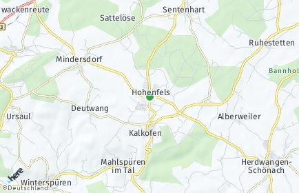 Stadtplan Hohenfels bei Stockach