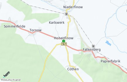Stadtplan Hohenfinow
