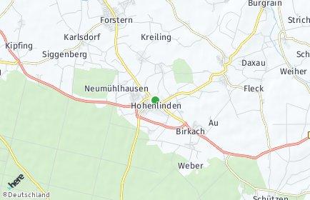 Stadtplan Hohenlinden