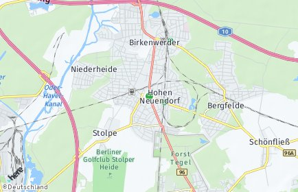 Stadtplan Hohen Neuendorf