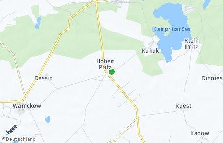 Stadtplan Hohen Pritz