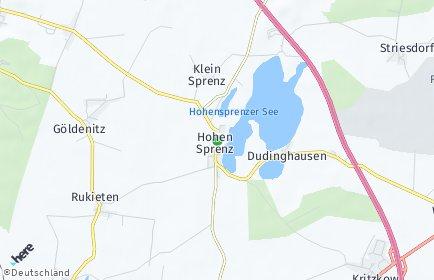 Stadtplan Hohen Sprenz