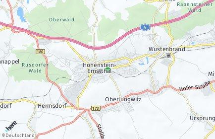 Stadtplan Hohenstein-Ernstthal