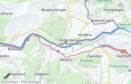 Stadtplan Hohentengen am Hochrhein