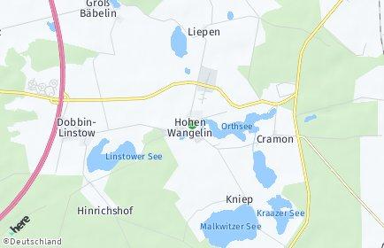 Stadtplan Hohen Wangelin
