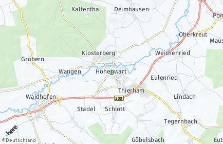 Stadtplan Hohenwart
