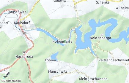 Stadtplan Hohenwarte