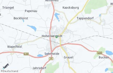 Stadtplan Hohenwestedt