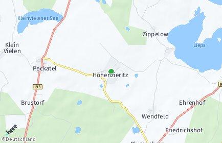 Stadtplan Hohenzieritz