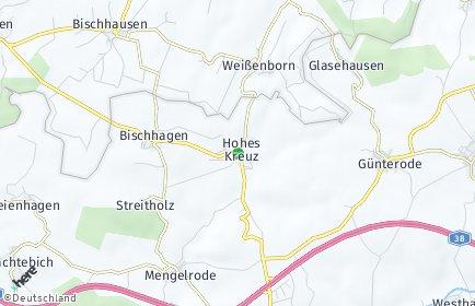 Stadtplan Hohes Kreuz