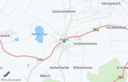 Stadtplan Hohn