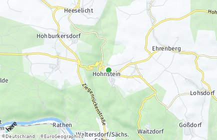 Stadtplan Hohnstein