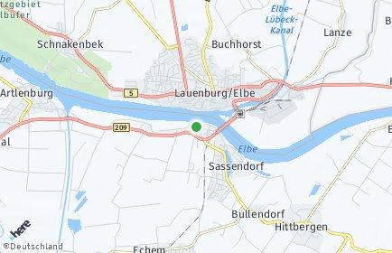 Stadtplan Hohnstorf (Elbe)