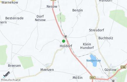Stadtplan Holdorf (Mecklenburg)